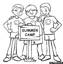 Small Picture Summer Camp Coloring Page Free Summer Camp Onlin Work