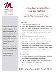 apply for maricopa foundation scholarships now glendale  mcccf scholarship application instructions