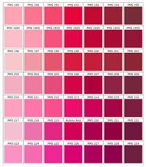 Pink Color Chart Pantone Color Chart Pink Color Chart
