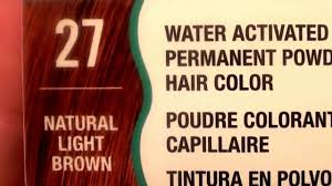 Water Works Permanent Powder Hair Color 27 Natural Light Brown