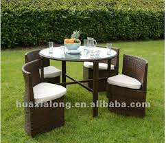 space saving patio furniture. New Design Space-saving Furniture/brown 4 Seat With Round Table Dining Set Space Saving Patio Furniture A