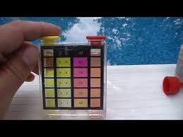 Pool Test Kit Chart How To Test Swimming Pool Water Chlorine And Ph Level With Test Kit
