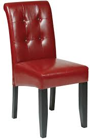red leather chairs dining. office star - tufted parsons dining chair in red eco leather chairs r