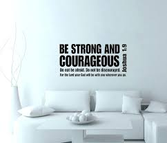 1 9 be strong and courageous verse scripture wall decals vinyl stickers home decor art