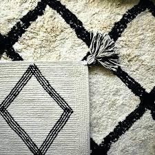 black white washable cotton rug rugs 2x3