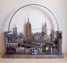 hand crafted metal skyline wall art manhattan seattle london or value city custom made your