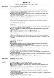 Peoplesoft Resume Sample Peoplesoft Developer Resume Samples Velvet Jobs 1