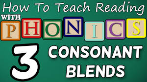 how to teach reading with phonics 3 12 2 3 letter consonant blends learn english phonics