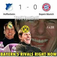 Große emotionen vor dem anpfiff des supercups! Baye Onch Hoffenheim Bayern Munich Azr Bvb 09 Bayern S Rivals Right Now Fc Bayern Munchen Rivals Right Now Meme On Me Me