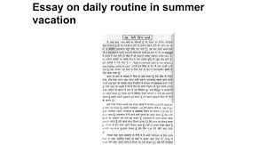 essay on daily routine in summer vacation google docs