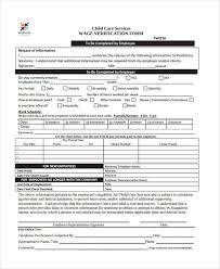 Income Verification Form Cool Free Verification Forms