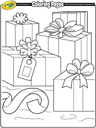 Christmas Packages Coloring Page Crayola Coloring Pages