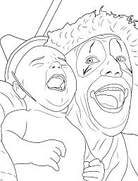 Creepy Coloring Pages Creepy Clown Adult Coloring Book Creepy Clown