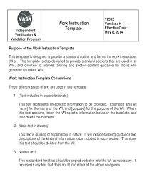Standard Work Templates Standard Work Template Word Standard Work Templates Standard