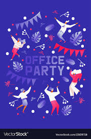 Vertical Template For Office Party Celebration Or