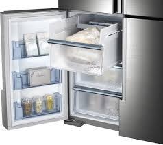 Largest Capacity Refrigerator Samsung Rf34h9960s4 36 Inch 4 Door French Door Refrigerator With