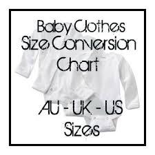 Convert Baby Clothes Size Chart American Australian