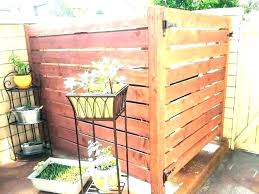 privacy screen to hide garbage cans outdoor large outside can storage home improvement scenic how ways