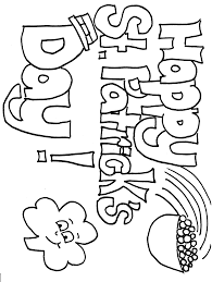 Small Picture Free Printable St Patrick Day Coloring Pages zimeonme