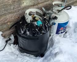 propane winter water heater tank blanket