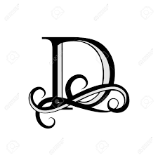 The Letter D Design Capital Letter For Monograms And Logos Beautiful Letter Black