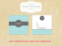 Photography Gift Certificate Template Gift Certificate Template Psd Free