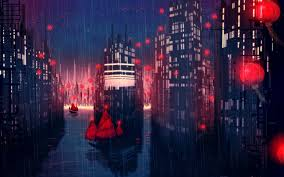Anime Aesthetic City Wallpapers ...