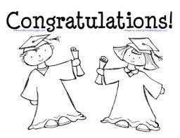 Small Picture Graduation Coloring Page for Preschool and Kindergarten