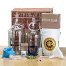 com deluxe home brewing equipment starter kit glass carboys with 5 gallon chinook ipa beer recipe kit kitchen dining