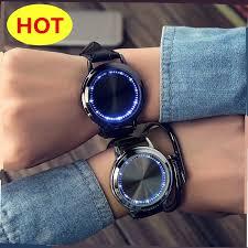 Trendy <b>Creative</b> Fashion LED Simple Smart Touch <b>Screen</b> Watch ...
