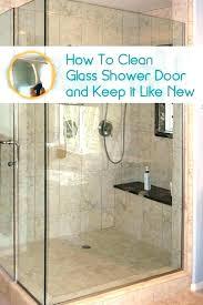 how to clean shower doors picturesque best cleaner for glass shower doors clean glass shower doors