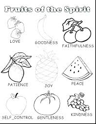 Holy Spirit Coloring Pages Fruit Holy Spirit Coloring Pages