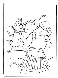 David En Goliath 2 Bijbel Kleurplaten Oude Testament