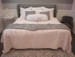 Pink And Grey Bedroom Decor Pink And Gray Bedroom Interior Design Ellie Bean Design