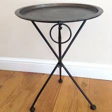 small folding side table round metal folding table high street small round folding side table
