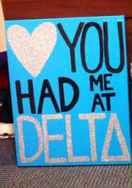 you had me at delta tri delta sorority craft ideas for big gifts