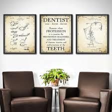 dentist office decor set of 3 wall art for dental plans 18