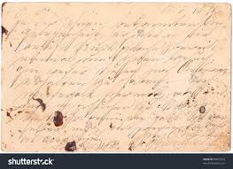 fragment old handwritten letter written stock photo fragment of an old handwritten letter written in in 1895 rich stain and