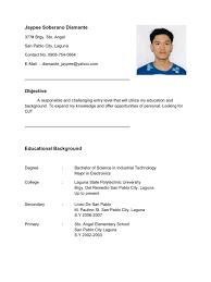 Ojt Resume Objectives Resume Sample Objectives for Ojt Krida 1