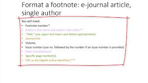 Using Chicago Style Citing An E Journal Article