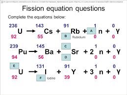 17 fission equation