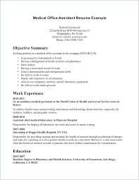 Medical Assistant Resumes Examples Impressive Medical Assistant Resumes New Lovely Example Good Cover Letter For