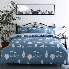 white patterned duvet cover copy minimalistic black and white cartoon tree pattern bedding