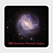 m83 the southern pinwheel galaxy astronomy gift sticker