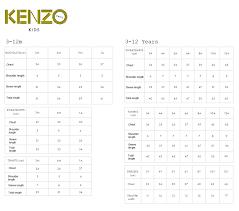 All Inclusive Kenzo Size Guide 2019