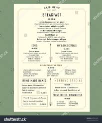 breakfast menu template menu design breakfast restaurant cafe graphic stock vector 252523369