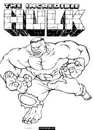 Awesome Marvel Superhero The Incredible Hulk Coloring Page ...