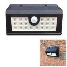 solar power pir motion sensor led security wall light