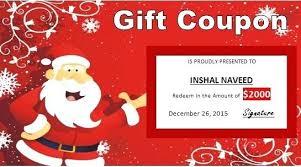 christmas gift card templates christmas voucher templates free gift certificate template free
