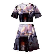 2019 FADUN <b>The Promised Neverland 3D</b> Kawaii Clothes Printed ...